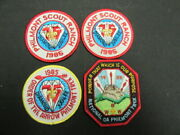 Philmont Scout Ranch 1985 Oa And Bsa Anniversary Patches, Lot Of 4   Eb25