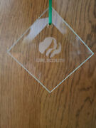 Girl Scout Etched Glass Christmas Ornament In Box