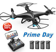 Holy Stone Rc Drone With 1080p Hd Camera 3d Flips Quadcopter Follow Me Best Gift