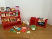 Vintage 1960and039s Amsco Barbie My Merry Toy Grocery Store Supermarket Set
