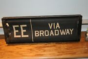 Antique Train Sign New York Via Broadway Ee And More Number 3 Route Railroad Old