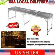 New Folding Beer Game Table Waterproof Portable Tables For Camping Bbq Party