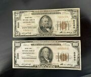 1929 50 And 100 National Bank Notes Honolulu Hi Fine Dfp