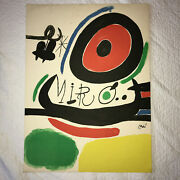 Vintage Joan Miro Print Lithograph Original 70s Bright Colors 22 By 30 Inches
