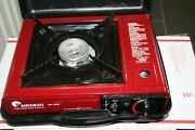 Red Maxsun-2000 Portable Signal Burner Stove With Case. Excellent Condition