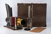 Antique L F Swarthout Pastor's Stereopticon Magic Lantern Outfit With Lens V18