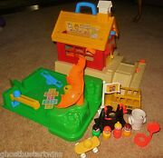 Vintage Fisher Price Little People Play Family School House Playground 2550 Lot