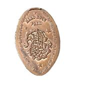 Extremely Scarce Hard Rock Park Copper Pressed Smashed Elongated Penny B2249