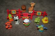 Fisher Price Little People Zoo Keeper Animals Lot 12 Fences Girl Alligator Duck