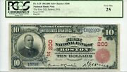 Fr. 613 1902 Rs 10 Ch 200 National Bank Note Pcgs 25 Very Fine 1600 Dfp