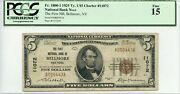 Fr. 1800-1 1929 Ty. 1 5 Ch 11072 Natland039 Bank Note Bellmore New York Pcgs 15 F