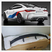 For New Bmw G80 G82 G22 M3 M4 Carbon Fiber Rear Trunk Spoiler Wing Mp Style