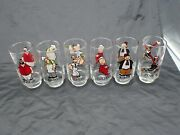 Vintage Set Of 6 Popeye And Friends Coca-cola Kollect-a-set Glasses 1975 Minty