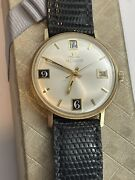 Vintage Jaeger Lecoultre 14k Yellow Gold Round Manual Wind Menand039s Watch