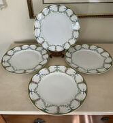 Raynaud Limoges Festivities French Dinner Plates 10.75 Set Of 4