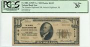 Fr. 1801-2 1929 Ty. 2 10 Ch 4119 National Bank Note Pcgs 20 Vf 1400 Dfp