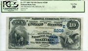 Fr. 577 1882 Vb 10 Ch 5208 National Bank Note Millville, New Jersey Pcgs 30 Vf