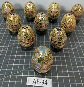 Beautiful 10 Cloisonne Chinese Eggs Af-94