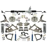 Mustang Ii Ifs Front Suspension, Tube Arms, 375 Coilovers, Manual Rack,4-1/2