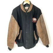 Vtg A And W Restaurants Leather Bomber Jacket Rootbeer Bear Rare Collectible M