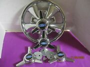 4 Caps Spinners 3 Bar Style For The Vintage Cragar Ss Wheels Black Blue For