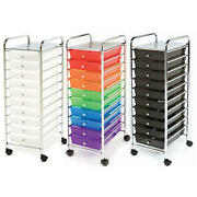 Seville Classics 10 Drawer Cart Multiple Colors Free Shipping