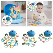 Baby Teether Rattle Set Shaker Grab Spin Teething Bath Toys For Newborns