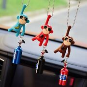 Hanging Monkey Car Accessories Decoration View Mirror Interior Funny Key Chain