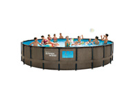 Summer Waves 22and039 X 52 Above Ground Swimming Pool Set W/ Pump Ladder And Cover