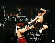 Jean Claude Van Damme And Bolo Yeung Autographed Kick 16x20 Photo Asi Proof
