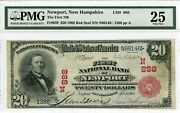 Fr. 639 1902 Rs 20 Ch 888 Natland039 Bank Note Newport New Hampshire Pmg 25 Vf