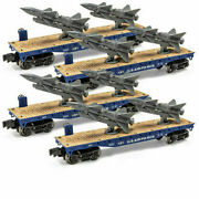 Set Of 4 -o Gauge Air Force Flatcar With Rockets Us Military Lionel Menards
