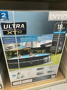 New Intex 18ft X 52in Ultra Xtr Round Frame Pool Pump Ladder And Cover. New