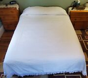 Vintage Concord Mills French Trapunto Style Matelasse Quilt Bedspread 86 X 108