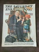 Saturday Evening Post Norman Rockwell Doctor And The Doll Complete Magazine 1929