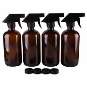 Stream Bottle Spray Amber Glass Trigger Cap Cosmetic Container Clean Essential