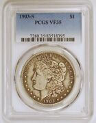 1903 S Morgan Silver Dollar Coin Graded Vf35 By Pcgs From The San Francisco Mint
