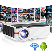 2021 Updated Wifi Projector 6200lumen Bluetooth Android Wireless Mirroring Video