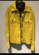 Tom Ford Nwt 5890.00 Yellow Suede Biker Flight Bomber Jacket 40 Us 4