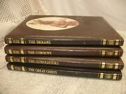 4 Time Life Books The Old West Hc Indians / Great Chiefs / Cowboys / Gunfighters