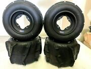 Cyclone Sand Dune Paddle Tires Dwt A5 Black Rims Front/rear Raptor Yfz Banshe