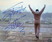 Sylvester Stallone Rocky Autographed 16x20 Museum Steps Color Photo Asi Proof