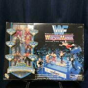 Wwf Wrestlemania Action Ring And Figures Set By Jakks Pacific Nearly Unused 581/mn