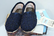 New Toms Womenand039s Shoes Flats Size 7 Blue Slippers Slip On
