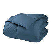 The Company Store Comforter Twin 295-thread Count Duck Down Cotton Smoke Blue