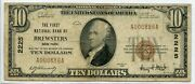 Fr. 1801-1 1929 Ty. 1 10 Ch 2225 National Bank Note Brewsters New York 12