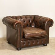 Original Vintage Leather Chesterfield Club Chair England