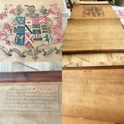 Antique Heraldry Coat Of Arms Family Tree Rolled Scroll Royal Genealogy
