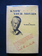 Know Your Movies - Signed By Welford Beaton To Clara Bow And Rex Beach, 1st In Dj