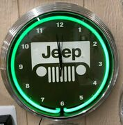Jeep Neon Clocks / Garage Signs For Men / Garage Clocks / Jeep Signs / Gas And Oil
